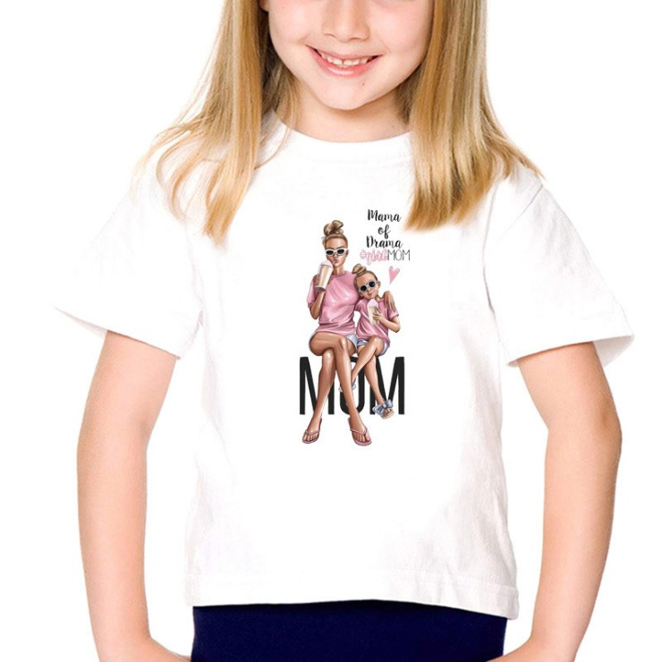 HTB1VW89VxTpK1RjSZFMq6zG VXak New Mom And Baby T Shirt Mum And Daughter Clothes Matching Family Outfits QT 1924