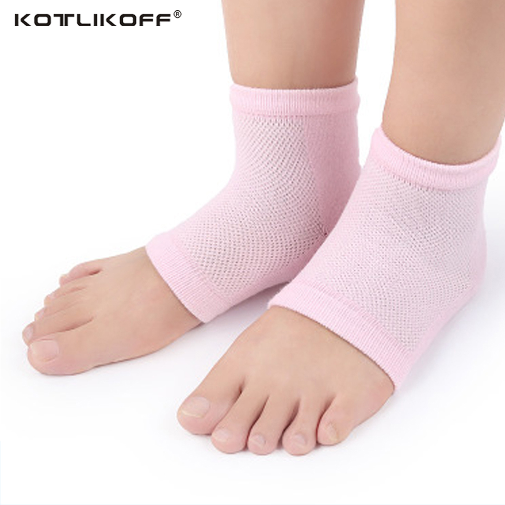 KOTLIKOF 7 Colors Silicone Gel heel Protector Professional Yoga Socks Heel pads Ballet Anti Slip Cotton Sport Massaging Sock Pad soumit 5 colors professional yoga socks insoles ballet non slip five finger toe sport pilates massaging socks insole for women