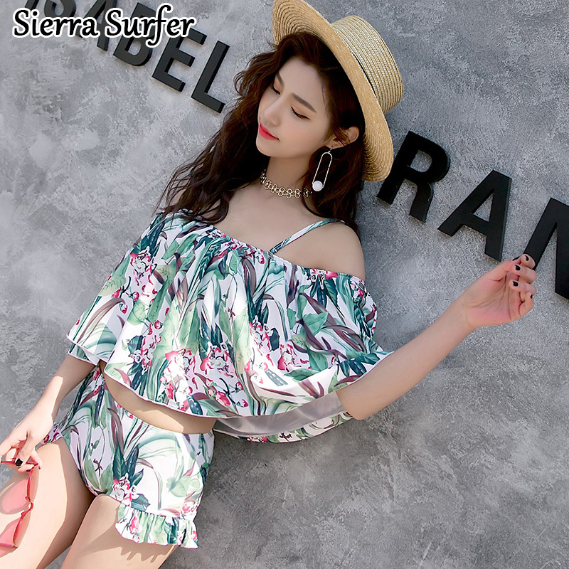 Plus Size Swimwear Woman Bikini Bathing Suit 2018 Split Swimsuit Bikinis Women Female Korea Bohemia New Word Underwire Push Up