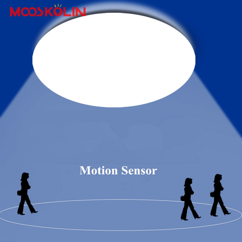 Smart Home Motion Sensor/Sons Contrôle LED Plafonniers Lamparas De Techo Pour Couloir Escaliers Dépôt Enfants Chambre Plafond lampes