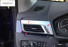 Lapetus Accessories For BMW X1 F48 2016 2017 2018 Matte Style Inside Air Conditioning AC Outlet Vent Molding Cover Kit Trim