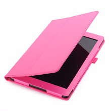 Ultra Slim Stand PU Leather Case for Amazon Fire HD 10 2017 10 inch Tablet Cover Case(China)