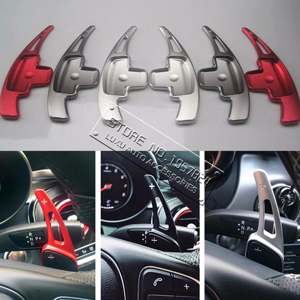 DEE Aluminum alloy Steering Wheel Shift Paddle Shifter Extension For Mercedes-Benz A CLASS A260 A200 A180 2017 Car Stickers car styling carbon fiber steering wheel paddle shifter fit for frs gt86 subaru brz scion fr s shift paddle