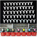 50pcs Professional Acrylic Nail Art Display Tips Practice Polish UV Gel Color Ring Board DIY Tool Set