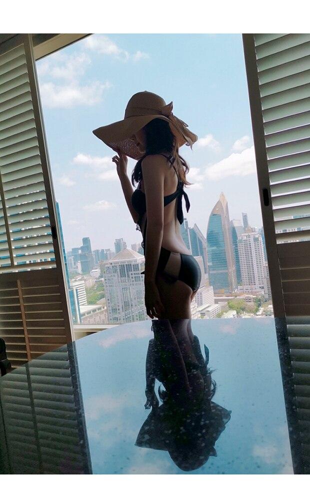 XS-XL, 2019, Черная Женская одежда для плавания, новинка 2019, цельный сетчатый купальник, сексуальный женский купальный костюм, купальник, монокин... 18