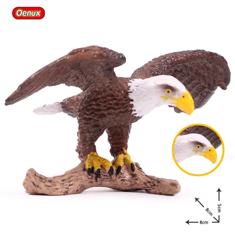 Oenux Toys Figurines Animal-Model Miniature Bird Eagle Bald Garden-Decoration-Accessories