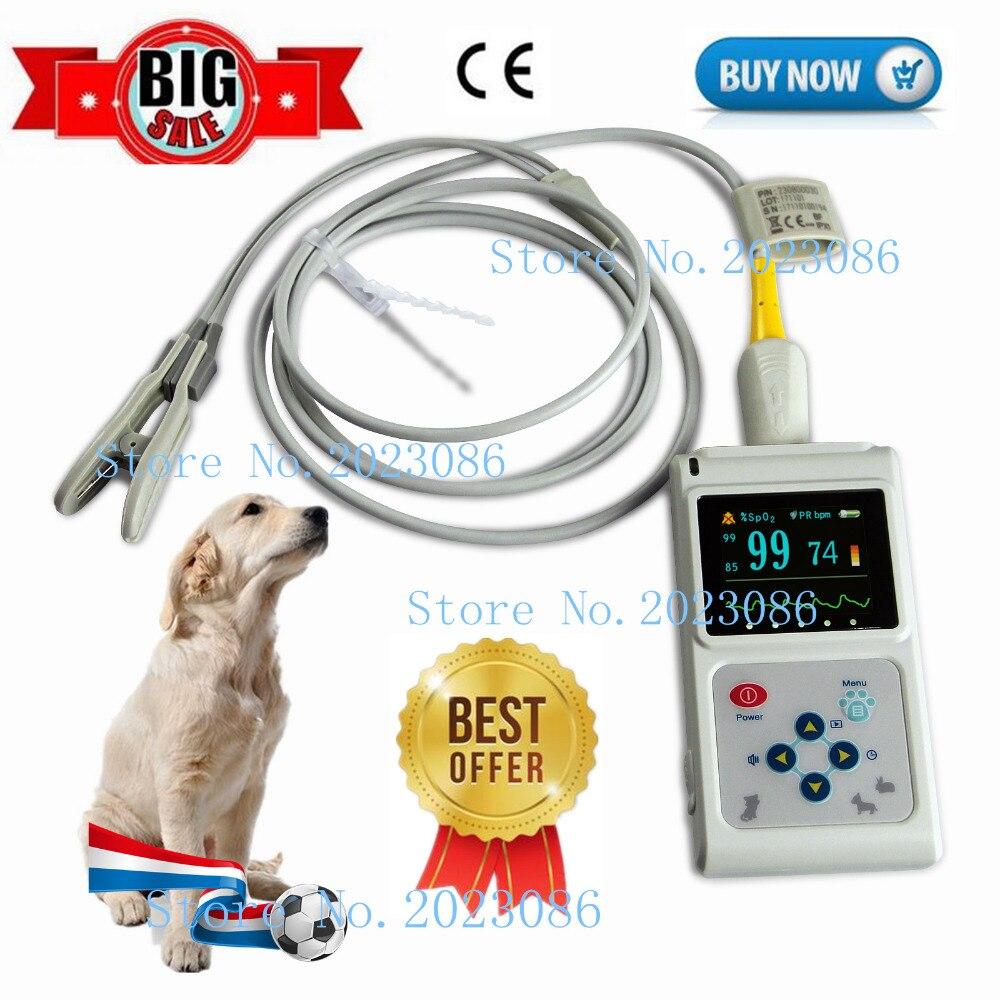 Oximetro CONTEC брендовый ручной пульсоксиметр CMS60D для ветеринарного использования, цветной oled дисплей 1,8