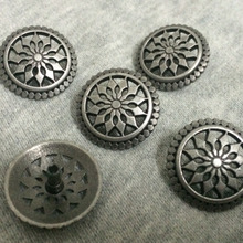 New 50PCS 19MM Antique Silver Round Studs Rivet Punk Round Hollow Spike Shoes Belt Bag Accessories Leather Craft Shipping Free