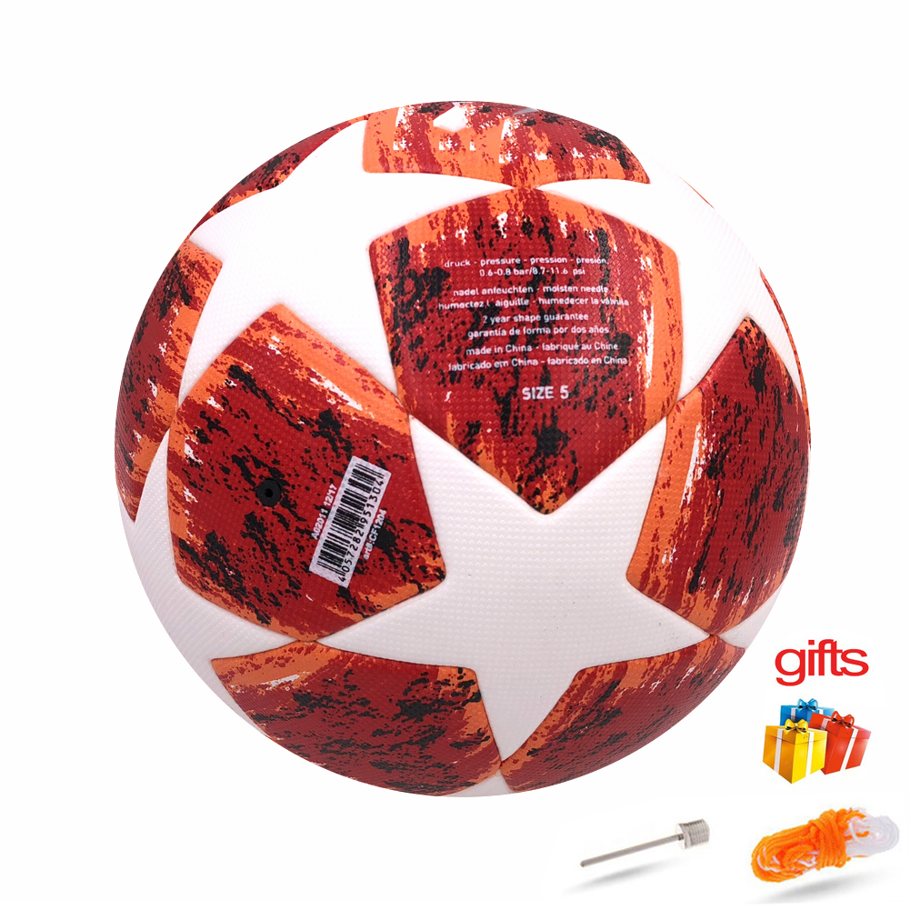 2019 PU Soccer Ball Official Size 5 Football Goal-League Outdoor Football training equipment fans GIFT image