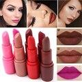 Nova cor da moda beleza lábios vermelhos batuta fosco batom maquiagem nude batom matte cosméticos pigmento marrom à prova d' água