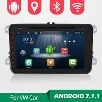 2Din Android 7.1 Car Audio Car DVD Player GPS Radio For VW GOLF 6 Polo Bora JETTA B6 PASSAT Tiguan SKODA OCTAVIA 3G touch screen