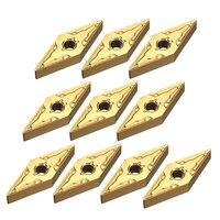 10ピース/ロットVNMG160404超硬インサートv字型ゴールドインサート用処理鋼cnc旋盤ツー