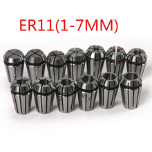 15pcs ER11 Spring Collet Chuck Set 1/1.5/2/2.5/3/3.5/4/4.5/5/5.5/6/6.5/7mm/1/8″/1/4″ with or CNC Lathe Engraving Milling Machine