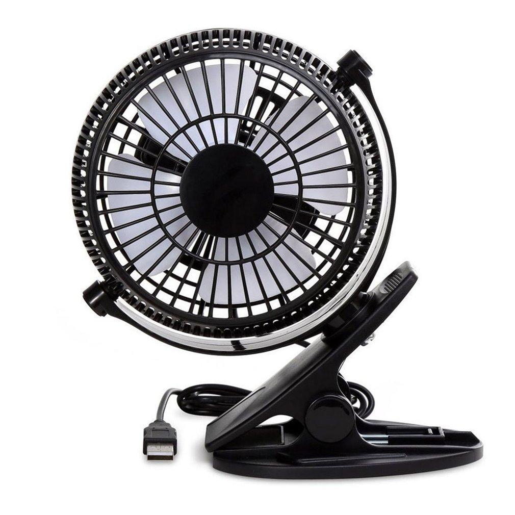 360 Degreen Rotation Portable USB Desk Fan Electric Desktop Computer Fan Clip Design Desk Electric Fan For Home Office