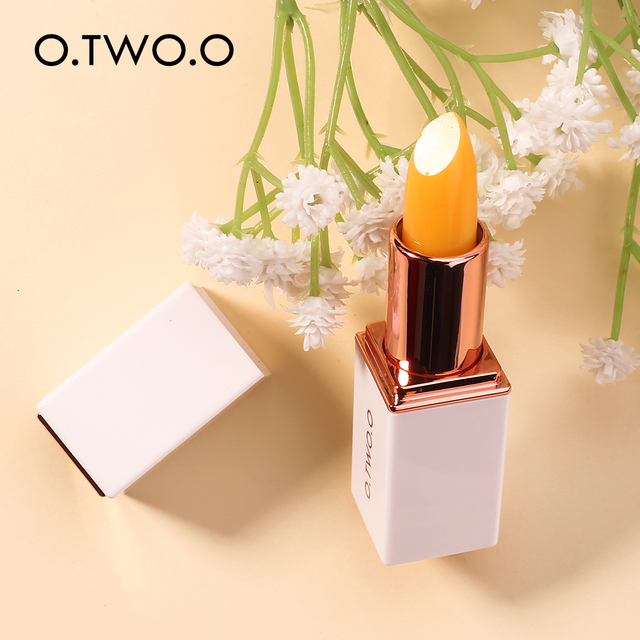 O.TWO.O Temperature Change Color Lip Balm Pink Hygienic Moisturizing Nutritious Jelly Lipstick Anti Aging Makeup Lip Care 3