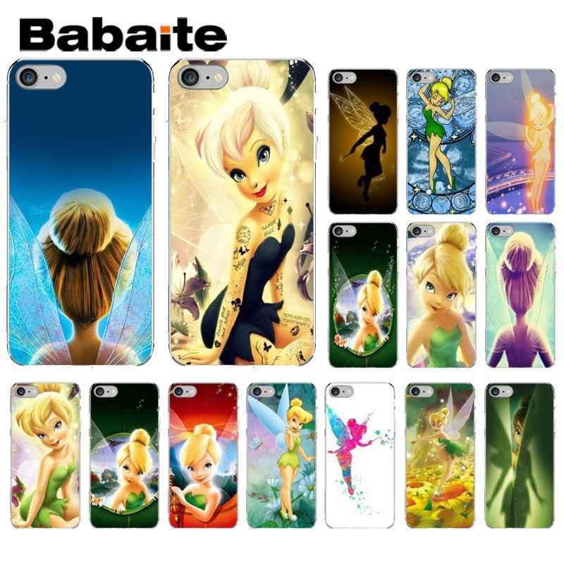 Babaite Del Peter Pan Wendy Tinkerbell trilli Trasparente Copertura Del Telefono Del Silicone per il iphone 5 5Sx 6 7 7 più 8 8 più di X XS MAX XR