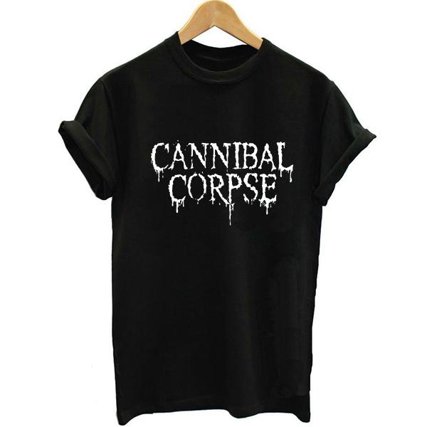 Estilo Unisex 2017 de Heavy Metal Música Negro PVC Impresión de la Letra Camiseta de Las Mujeres Camisetas Camiseta Camiseta Harajuku Carta Botín