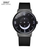IBSO Kreative Neue 2019 Silikon Männer Uhren Mond Zifferblatt Luxus Quarzuhr Männer Uhr Wasserdicht Relogio Masculino