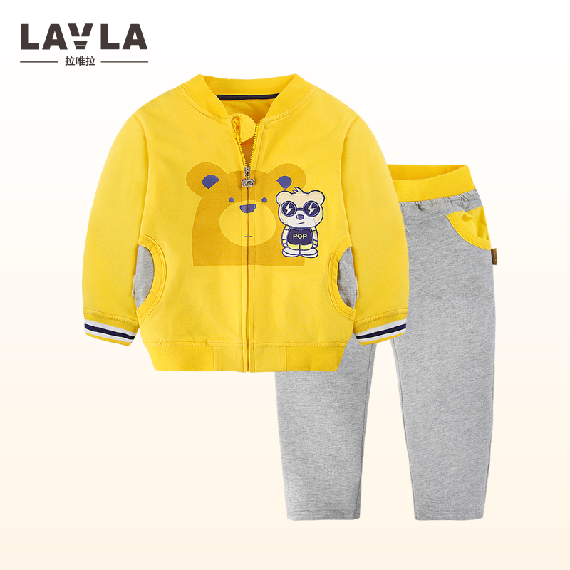 LAVLA New 2018 Spring Autumn Clothing Set Long Sleeve Sports Suit For Boy Kids Clothes Sets Cotton Tracksuit for Girls Clothes