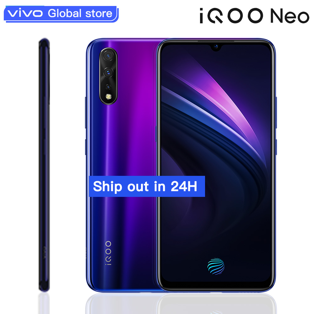 Original vivo iQOO Neo Smartphone Android 9 6GB 128GB Support 22.5W Fast Charge 6.38FHD AMOLED Mobile Phone Snapdragon 845