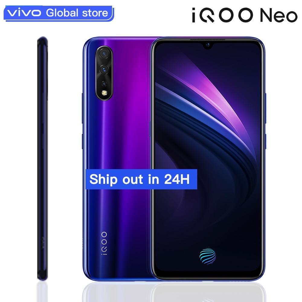 Original vivo iQOO Neo Smartphone Android 9 6GB 128GB Apoio 22.5W Carga Rápida 6.38