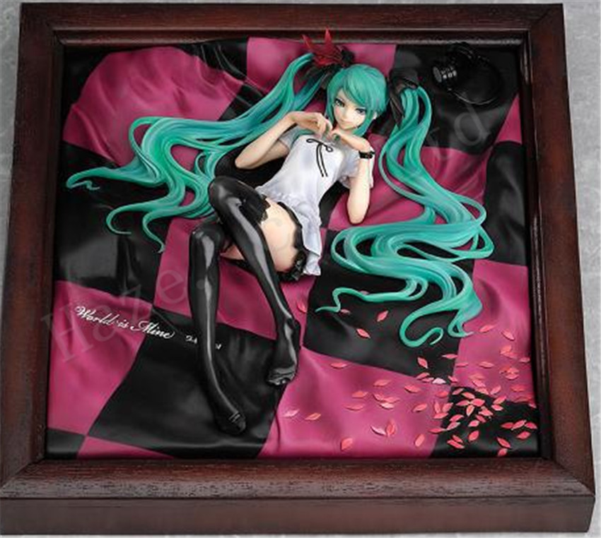 Hatsune Miku World is Mine Supercell Brown Frame 1/8 New Box Complete Figure vengeance is mine