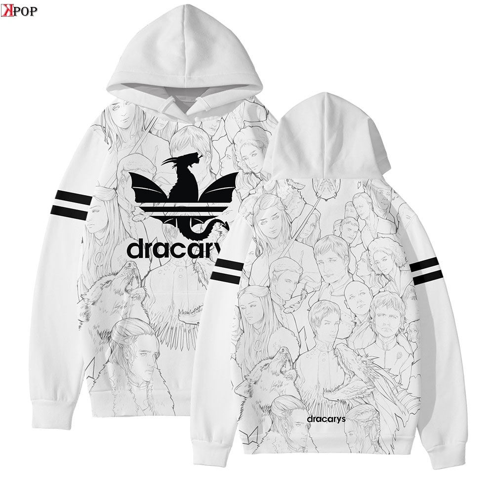Game Of Thrones Dracarys New 3D Hoodies Sweatshirt Hip Hop Anime Women/Men Popular Clothes Casual Hot Sale Hooded
