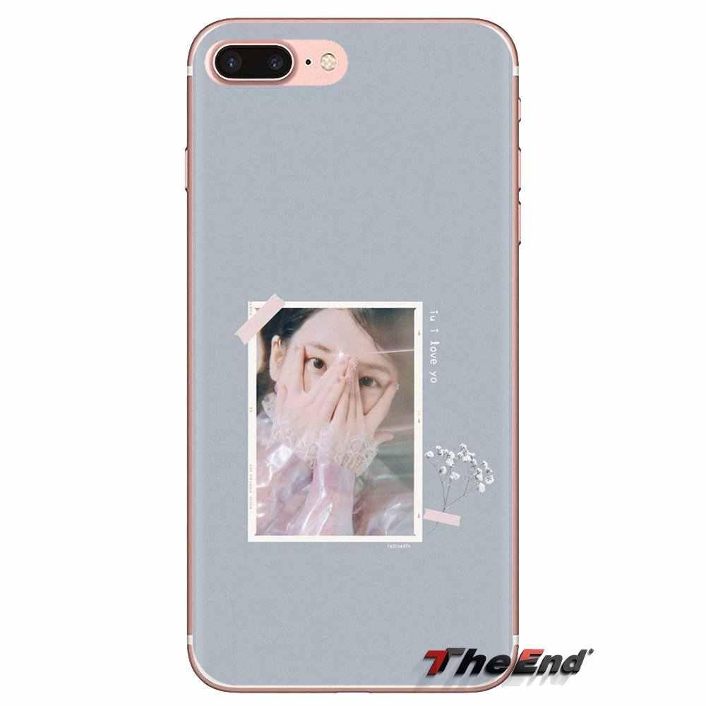 IU Lee Ji Eun Kpop Gadis Lembut Transparan Shell Cover untuk Samsung Galaxy S3 S4 S5 Mini S6 S7 tepi S8 S9 S10 Plus Catatan 3 4 5 8 9
