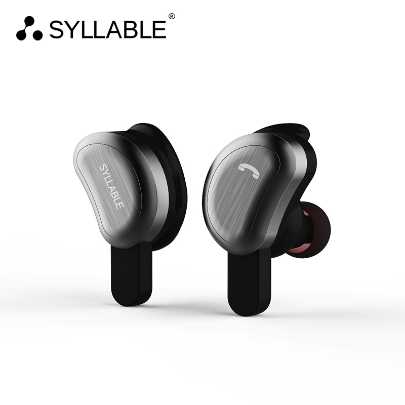 SYLLABLE True Wireless Stereo D9 Bluetooth Earphone IPX4 Waterproof In-ear Wireless Earbud Bluetooth Headset Two-hour Music Time morul u5 plus wireless bluetooth earbud earphone bt 4 1 waterproof
