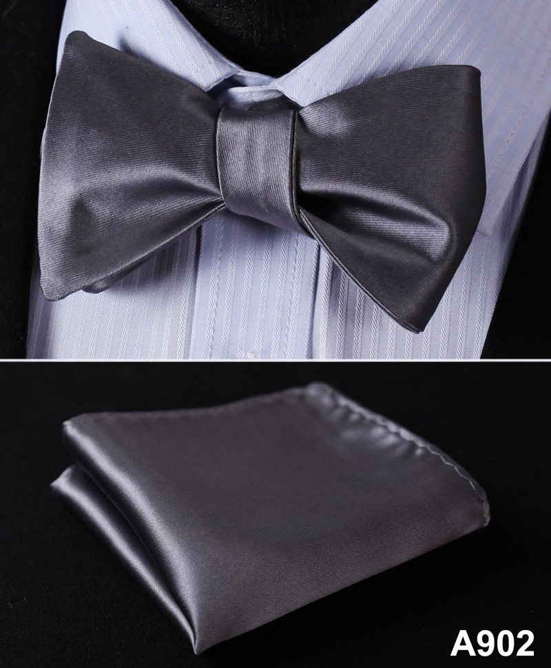 BL21 100%Silk Jacquard Woven Men bow tie, Wedding Butterfly Self Bow Tie Pocket Square Handkerchief BowTie Set Hanky Suit A9