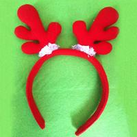 50pcs/lot Christmas Red Sponges Antler Style Hairbands Fairy Deer Horns Design Headdress Party Banquet Hair Wears HX442