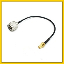 цена на 10 Pieces antenna  Extension Cable RP-SMA Female pin to N Male Connector Pigtail Cable 100CM