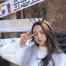 Hot Selling New Arrival Women Sexy Lace Blindfold Rabbit Ears Hair Bands Lace Veils Blindfold Erotic Eye Mask Girls Cosplay недорого