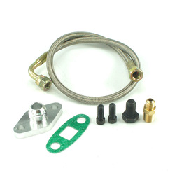 Turbo Oil Feed Line Kit Flange Fitting for Toyota Supra 1JZGTE 2JZGTE 1JZ/2JZ Single Turbo YC100767
