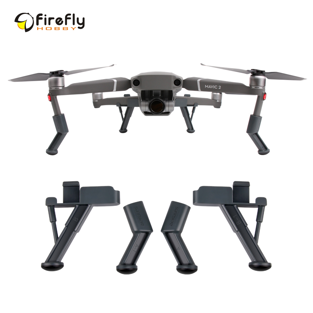 28abaf274bc Sunnylife Heightened Landing Skids Landing Gear Stabilizers for DJI MAVIC 2  PRO & ZOOM Drone