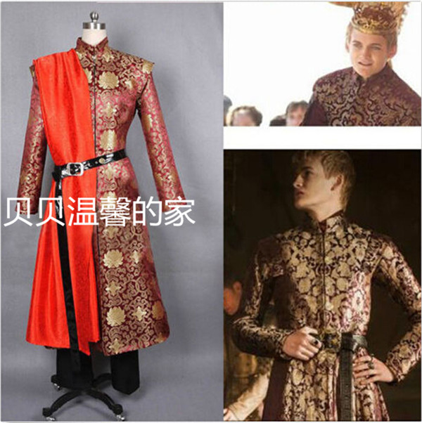Game of Thrones King Joffery Costume Outfit Prince Costume Adult Mens Halloween Cosplay Costume Plus Size Custom Made