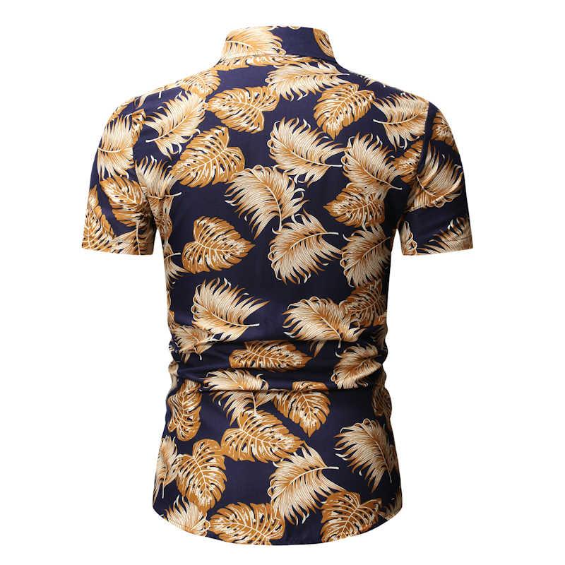 Мужская Летняя Пляжная гавайская рубашка 2019 брендовая рубашка с коротким рукавом плюс размер цветочные рубашки мужская повседневная праздничная одежда для отдыха Camisas