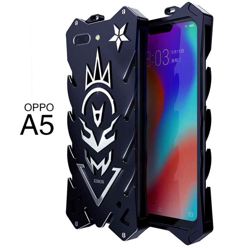 OPPO A5 Zimon Luxury New Thor Heavy Duty Armor Metal Aluminum Phone Case For OPPO A5 Case 5.5