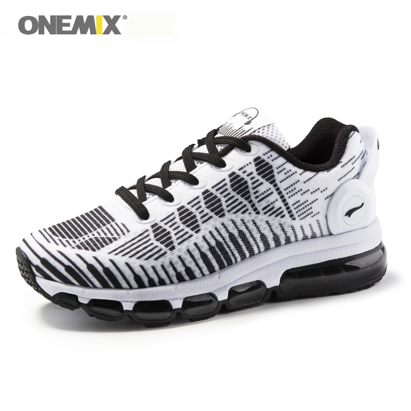 Onemix Air Cushion Men Running Shoes sports walking shoes breathable mesh vamp anti-skid outdoor sneakers light Jogging Sneakers