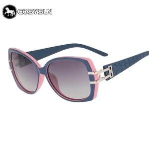 Image 1 - 2018 Luxury Women Sunglasses brand designer woman glasses Big Temple ploarized Lens Sunglasses female shades 0026