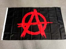 johnin 90*150cm ANONYMOUS Black Mason Freedom red anarchy flag