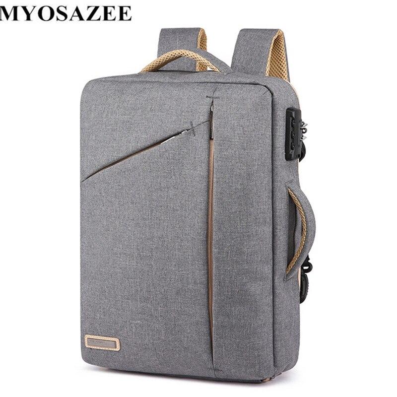 Anti-theft ноутбука Для мужчин рюкзаки школьные сумки паролем рюкзак Водонепроницаемый Повседневное рюкзаки Бизнес путешествие мужской сумки