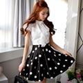 Original 2016 Brand Dot Plus Size Slim Elegant Casual Summer Skirts Women Saia Faldas Wholesale