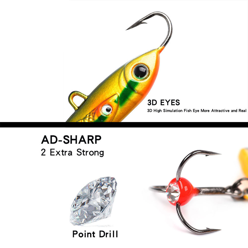 Winter Brand New Fishing Lures Swimbait Accessories Quality Hard Bait Shone Diamond Fishing Tool Crankbait Minnow Hook Tackle 10