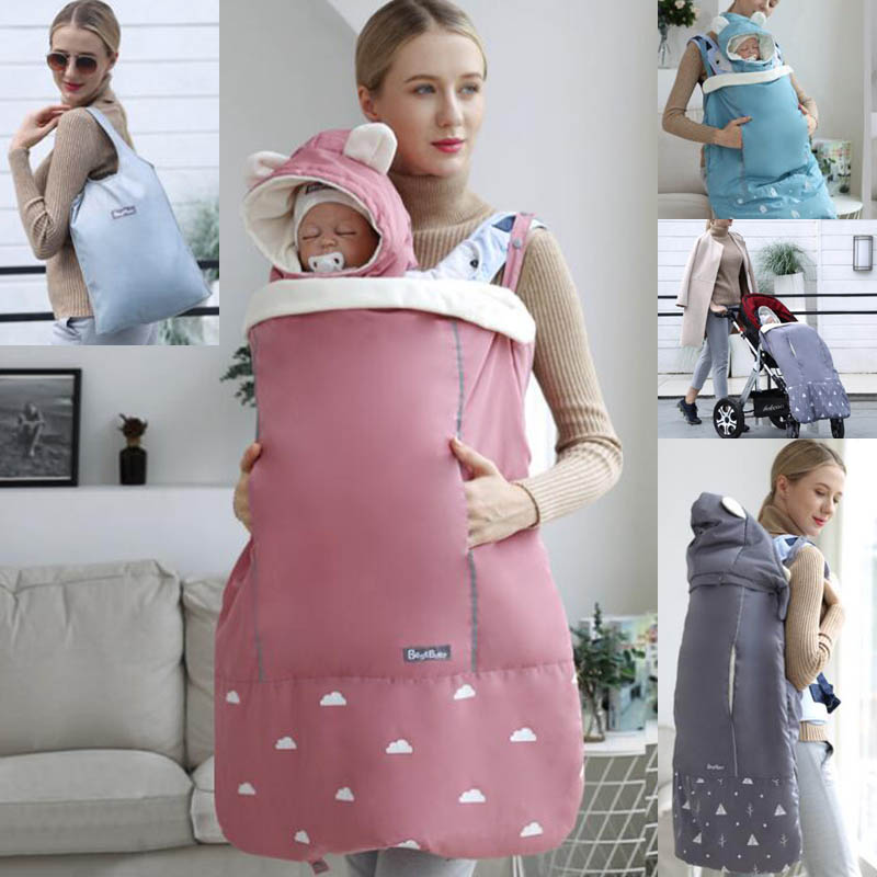 Mother & Kids Honest Warm Baby Carrier Cloak Mantle Cover Winter Kangaroo Infant Windproof Cloak Strap Hug Quilt For Waist Stool Stroller Accessories Fashionable And Attractive Packages