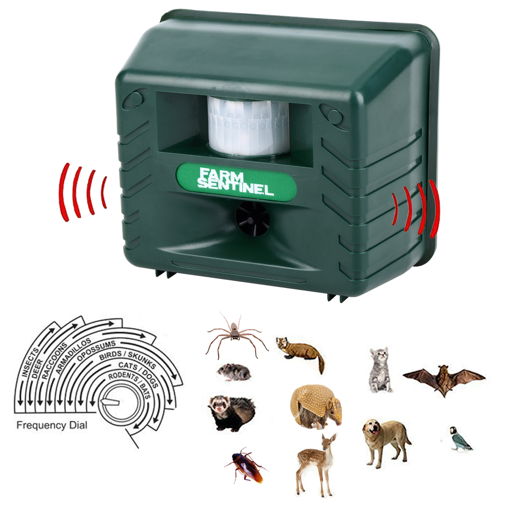 High-Power Ultrasonic Electronic Repeller Pest Animal Expel Birds Dogs Analog Alarm Sound Intelligent Electronic Rodent Repeller