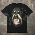 2017 summer new Europe tide brand giv lovers tops tees Rottweiler dog head print men / women fashion cotton Short sleeve t-shirt