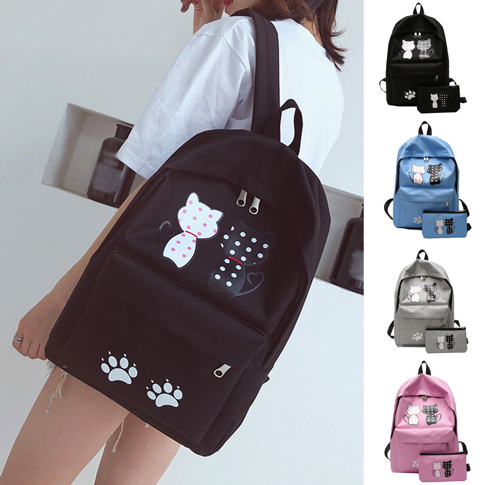Backpack Women Children Schoolbag Back Pack Leisure Korean Ladies Knapsack Laptop Travel Bags School Teenage Girls Backpacks @00