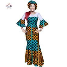 african dresses for women bazin riche style femme african clothes graceful  lady print wax plus size 88c097051805