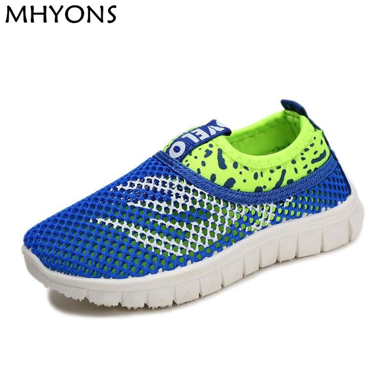 2019 Summer Fashion Kids Shoes Cut-outs Air Mesh Breathable Shoes For Boys Girls Children Sneakers Baby Boy Girl Sandals